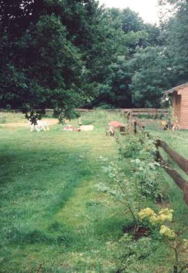 Riesen-Garten; wenig Schwein